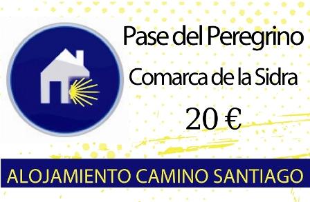 """Alojamiento y albergues Camino Santiago Asturias """"Pase del Peregrino en la Comarca de la Sidra"""""""