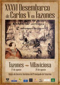 CARTEL_DESEMBARCO_CARLOS_V_TAZONES_VILLAVICIOSA_2016