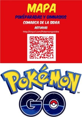 MAPA POKEMON GO ASTURIAS (COMARCA DE LA SIDRA)