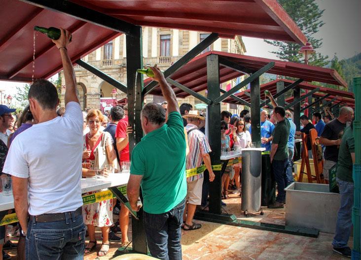Fiesta de la sidra en Villaviciosa